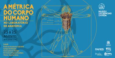 Banner - Exposição A Métrica do Corpo Humano